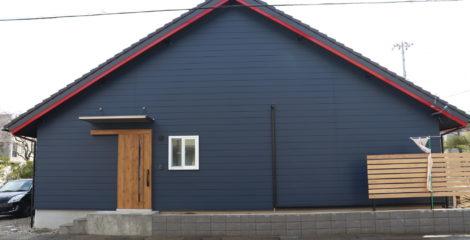 青と赤、平屋の屋根イメージ0
