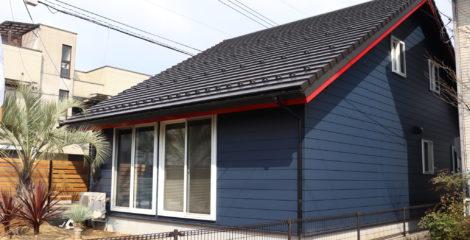 青と赤、平屋の屋根イメージ1