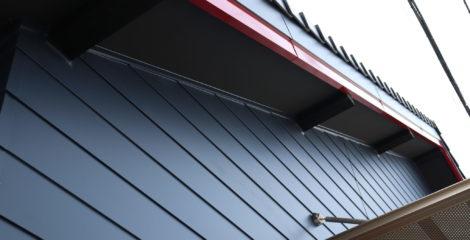 青と赤、平屋の屋根イメージ4